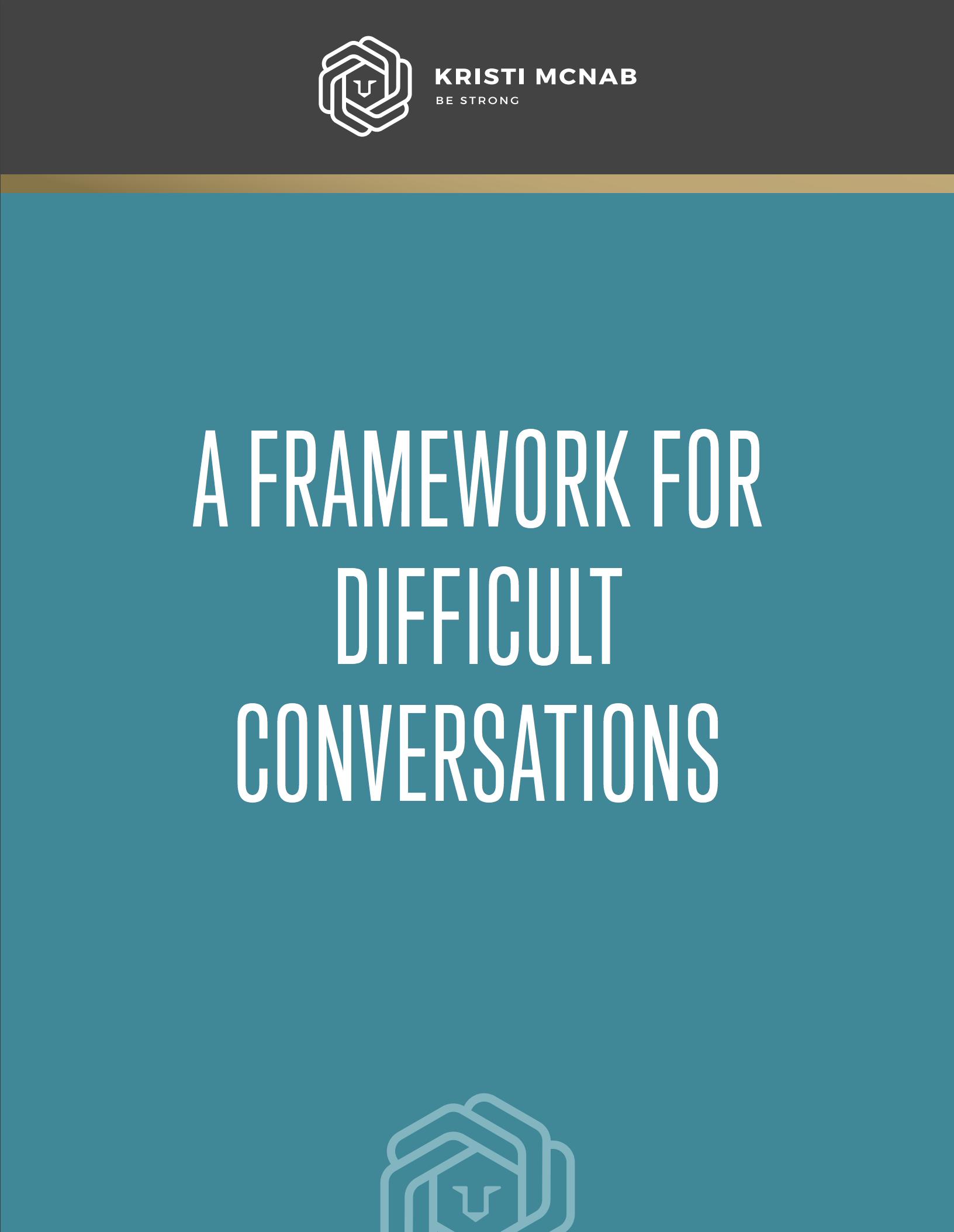 free guide - 4 step framework for tough talks