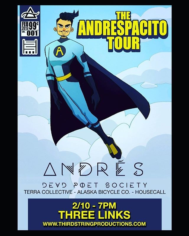 Hey everyone!  It's been a little while, but we're back and we're playing this cool show in a few weeks at Three Links in Dallas with @andresamusica !! Come hang!!