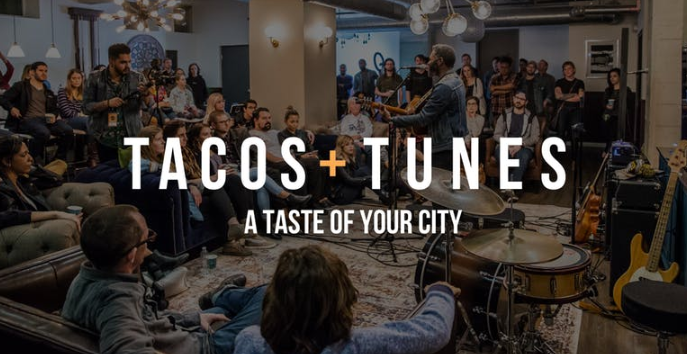 WHAT IS THIS? Tacos and Tunes is a concert series that's removing the barriers between artists and their audiences. Also tacos. Because they're delicious.  We believe our hearts are just as hungry as our stomachs and both deserve to be filled. Experience an intimate show featuring the best local talent and tacos. A unique venue and genuine community will make it worth the while to pause your Netflix and experience your city.  Learn More at: www.tacosandtunes.com  Follow us on Social Platforms @tacosandtunes     TICKETS     WHAT TO EXPECT:  Each show has 3 artists who will play 4 songs each. We will have a short break in between each set and there is a no talking policy during each performance. But no worries, in between the sets you can chat away or check out the fun photobooth.   WHAT'S INCLUDED?  Entry for One  2 tacos (Chicken or Veggie)  Water  Photobooth opportunity    WHERE: TBD    WHEN: Friday | July 19 | 7:30-9:30    SCHEDULE:  7:30 - Doors Open  8:00 - Artist 1  8:30 - Artist 2  9:00 - Artist 3  9:30 - You don't have to go home but...
