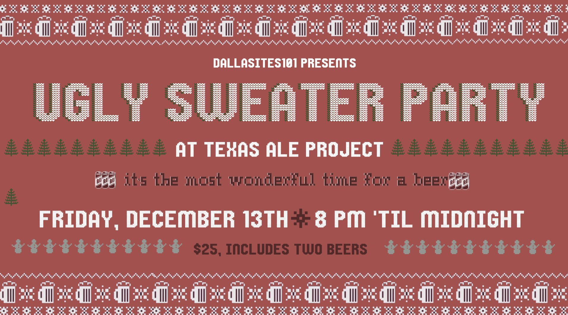 Ultimate Ugly Sweater Party Dallasites101