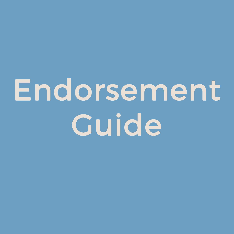 Endorsement Guide