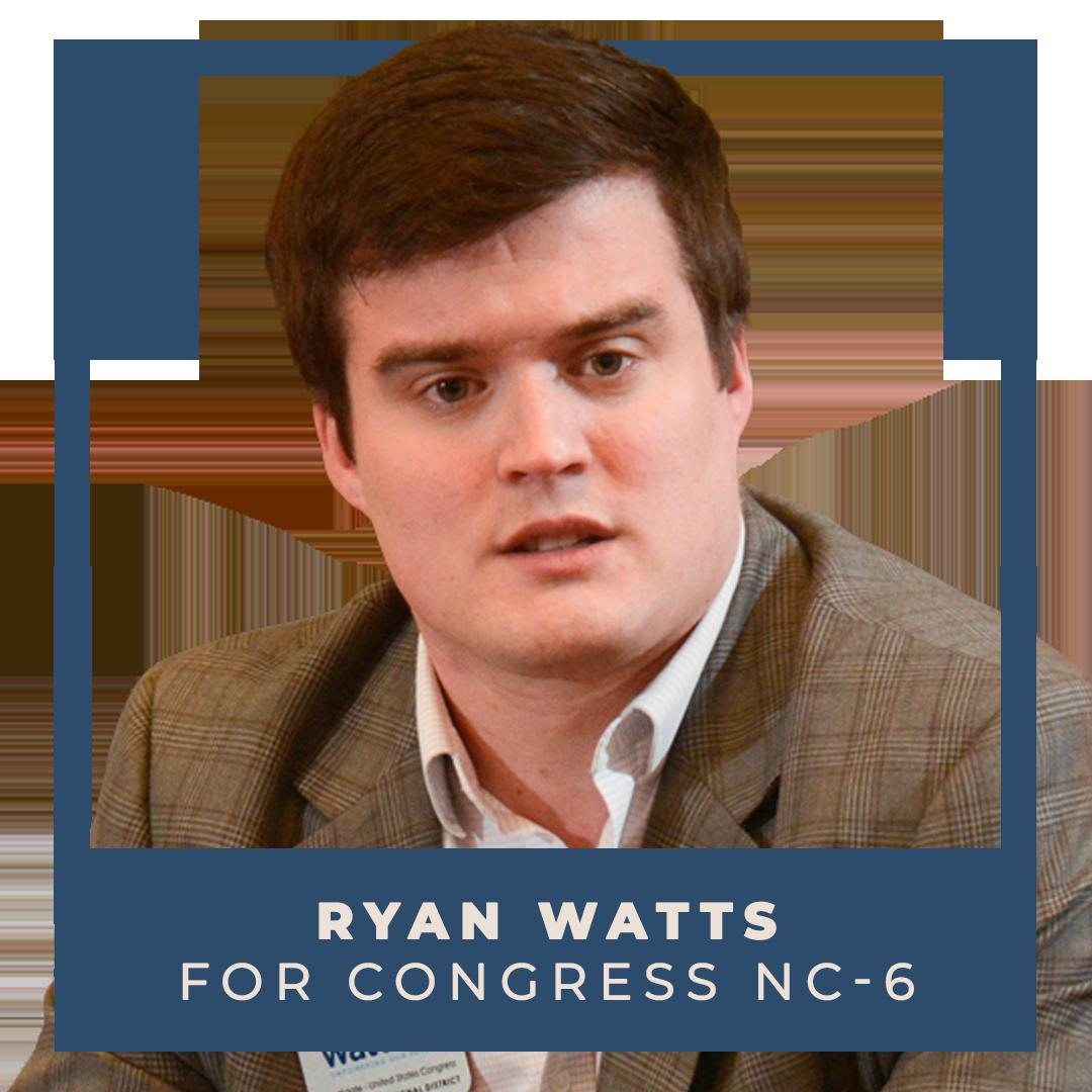 Indivisible endorses Ryan Watts for Congress (NC-6)