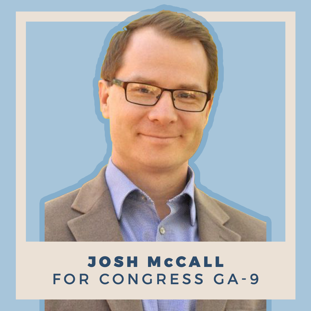 Indivisible endorses Josh McCall for Congress (GA-9)