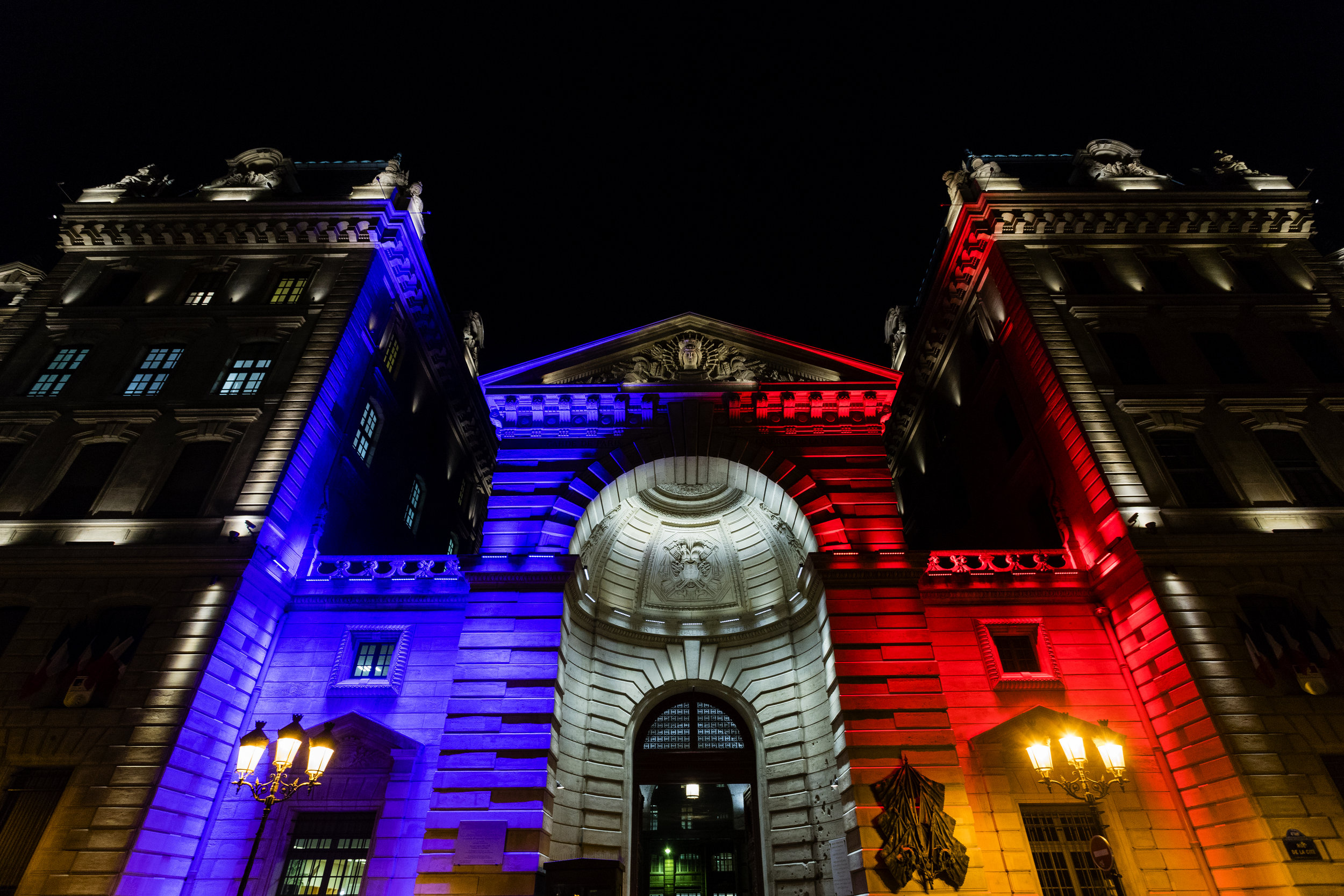 Patriotic lights…