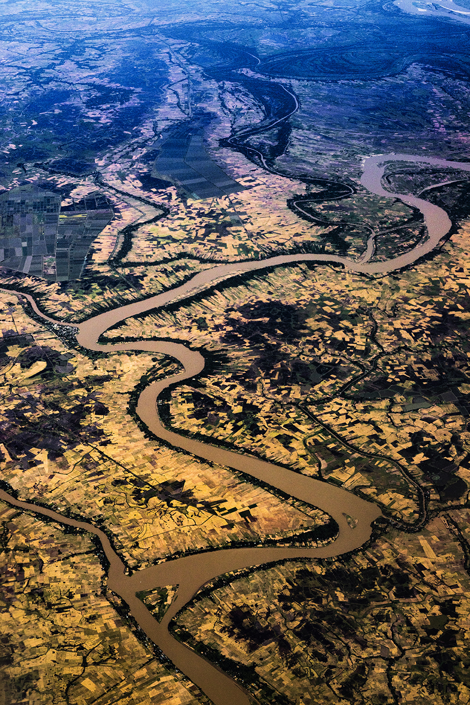 Flying over Myanmar