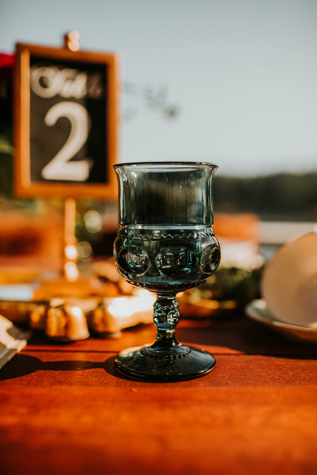 Sapphire Colored Goblets