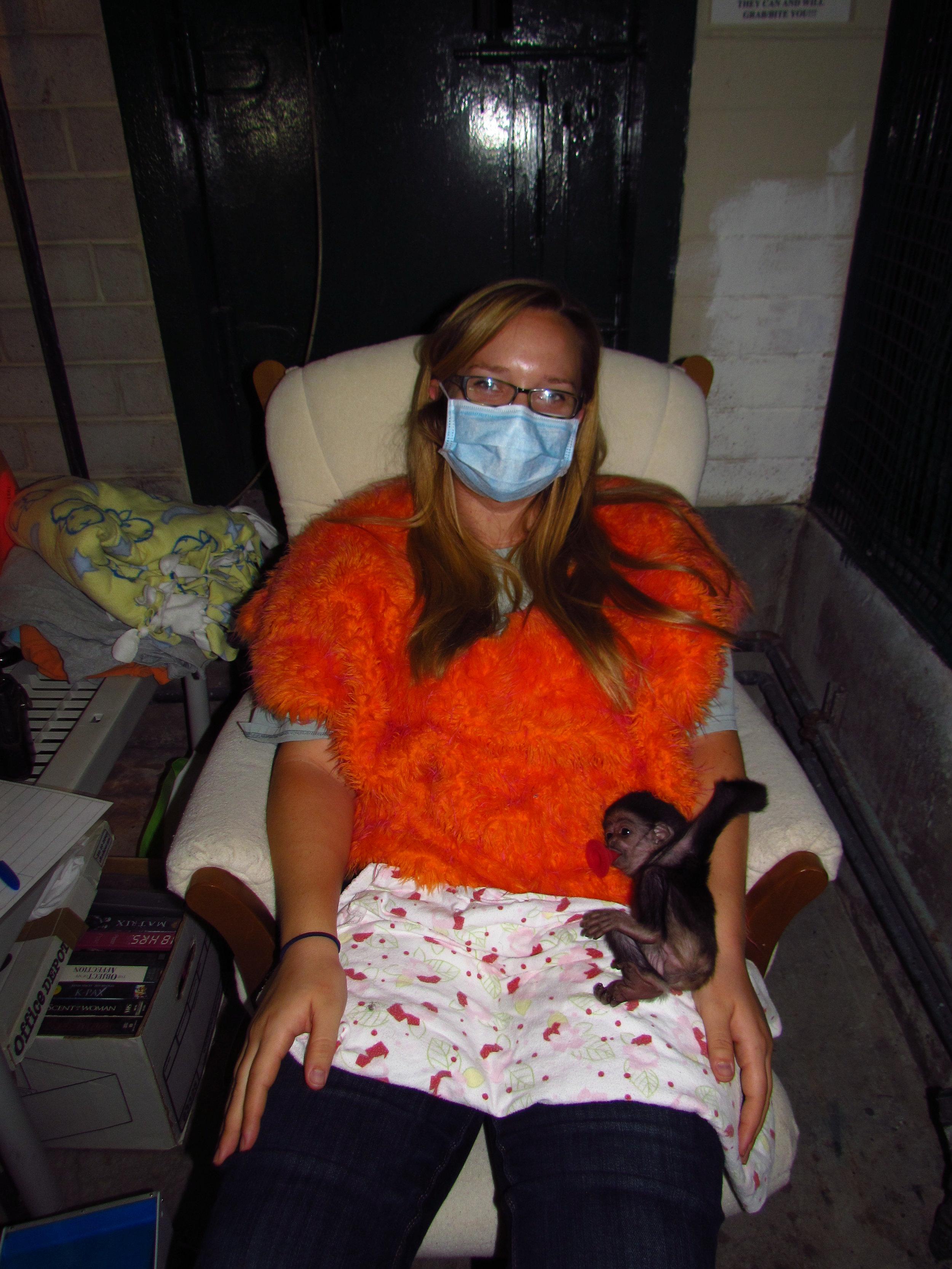 113 # 5 Allison w Thai on white chair in Gibbon area.JPG