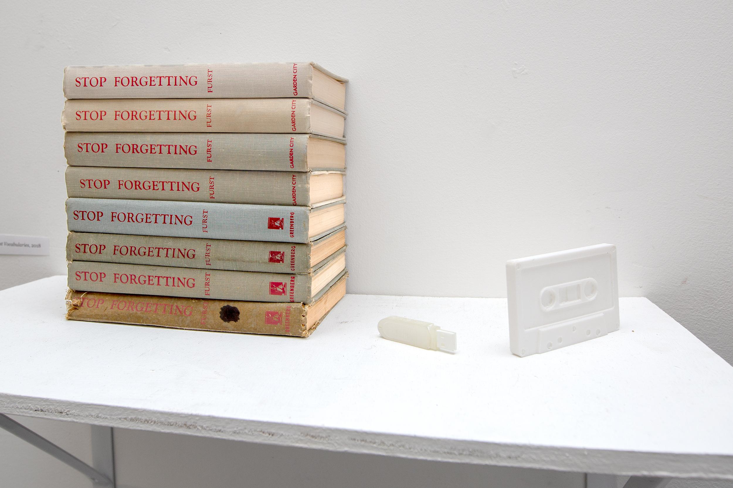 I Dream Of Lost Vocabularies , 2018, books, 3D prints