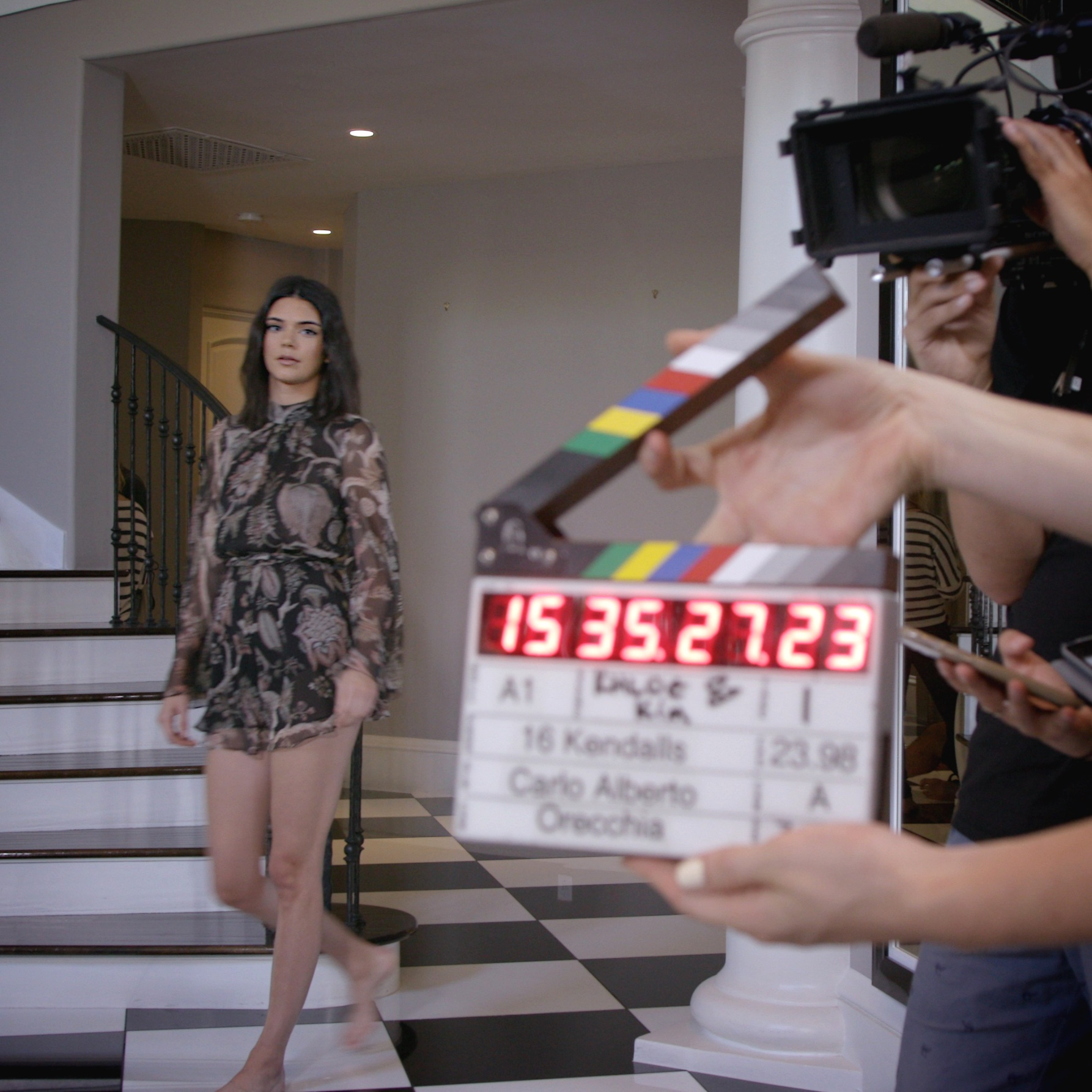 on+set+with+Kendall+Jenner