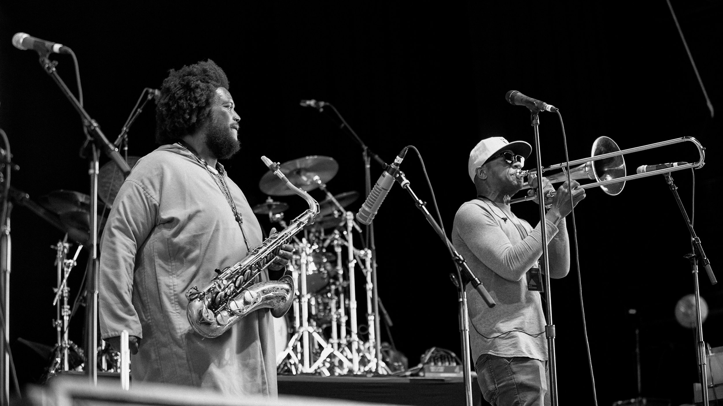 Kamasi Washington and Ryan Porter