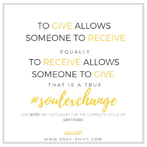 The idea of ThanksRECEIVING has #soulspired us from our own experiences! We share what the true #SOULexchange of Giving AND Receiving is and the value of both on our    #soulblog   . Read more    here: