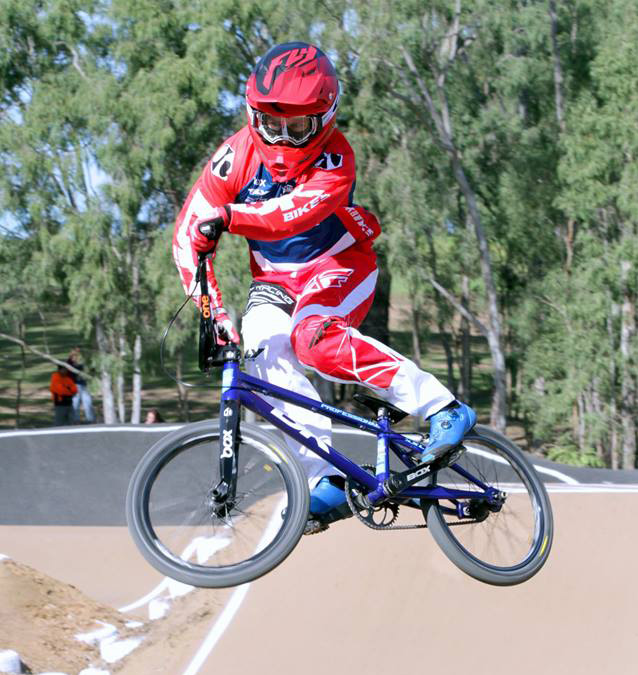 Name:    Corey Stafford    Hometown:  Brisbane, QLD  Currently Residing:  Brisvegas    Years Riding:  30+ years  Hobbies outside BMX:  Not much else but Golf ha-ha   Current DK Setup:  2018 DK Professional V2 in Blue with Box Components and Maxxis tires.  One thing you can't live without (besides your bike):  Wife, Kid and my 2 staffies x  Favourite place to travel:  USA  First memory of BMX:  That was 30 odd years ago so my memory is not that great. But watching pro's like Peter McIntyre kill it.  Favourite Quote/Words To Live By:  Trophies only carry dust but memories last forever !!!