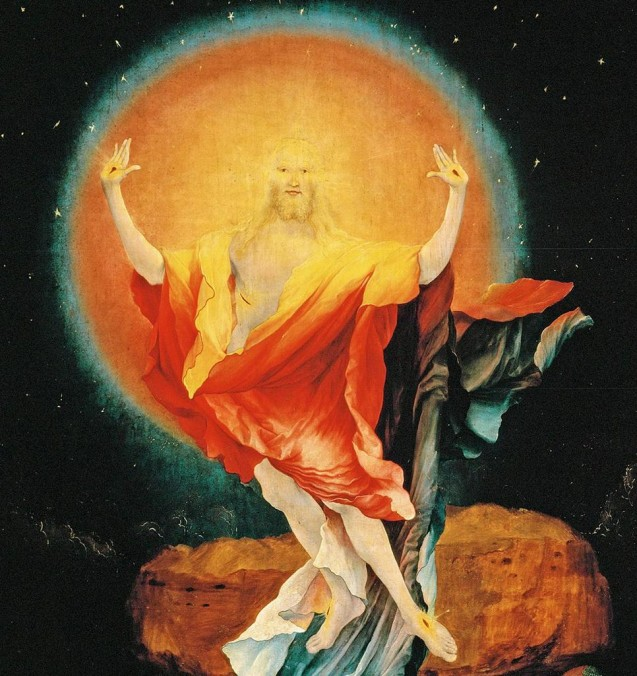 """Resurrection,"" Isenheim Altarpiece, Matthias Grünewald (1512–1516)"