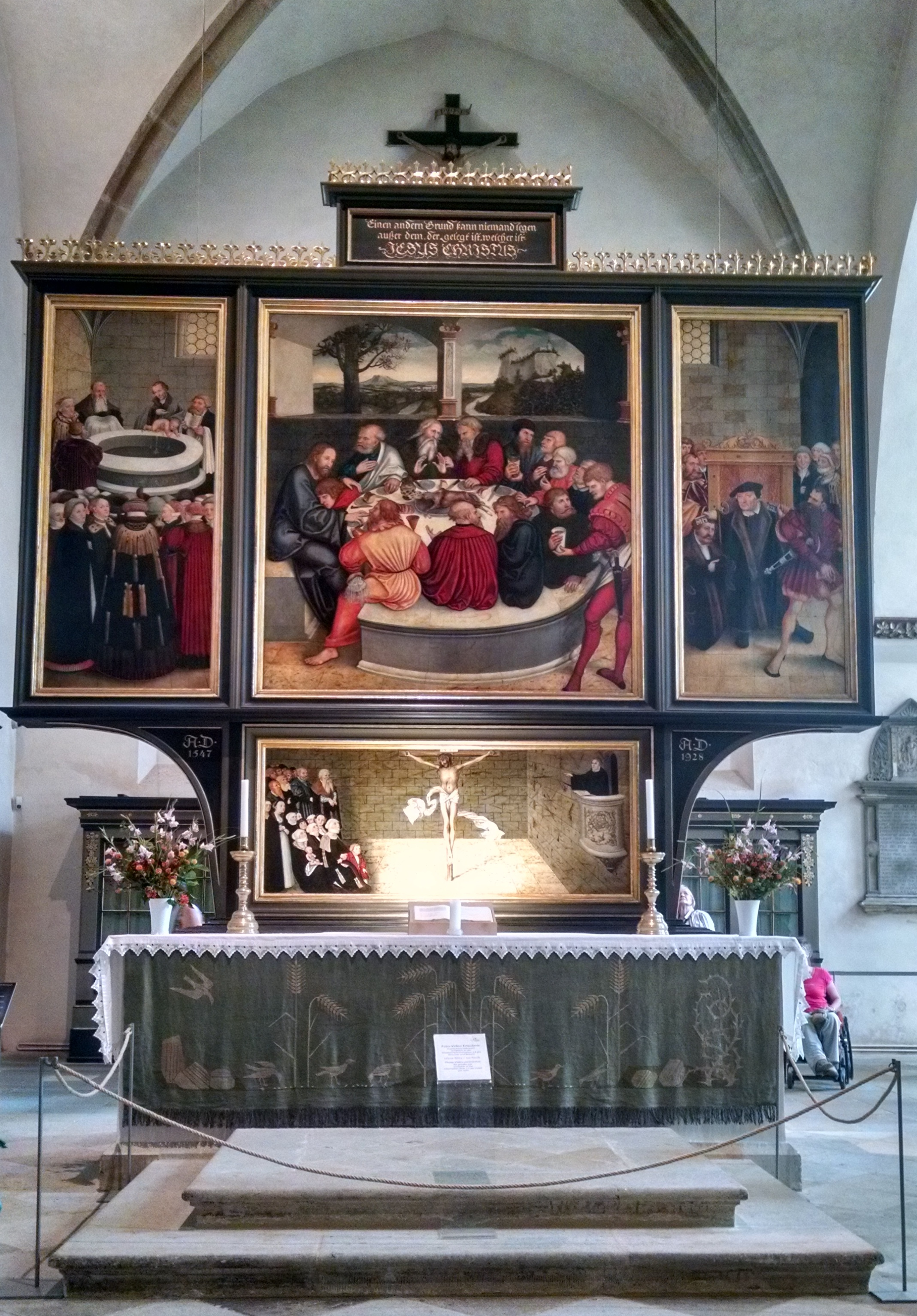 Altar of the City Church in Lutherstadt Wittenberg