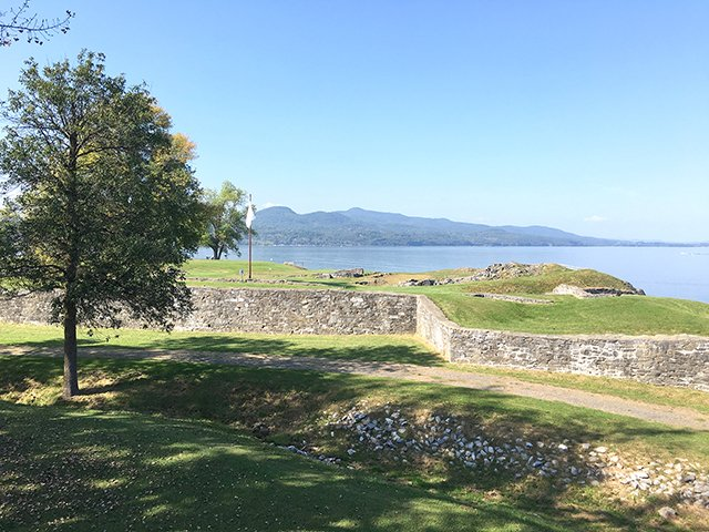 Ruins of the French fort at the Crown Point State Historic Site
