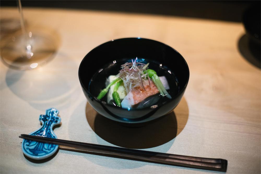 Shiori_Clear Dashi Broth with Salmon, Tofu and Spring Vegetables_Photo @Sasha Kharchenko.jpg