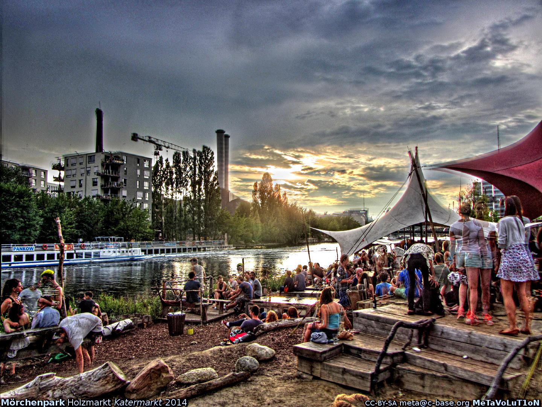 Holzmarkt under license CC BY-SA 2.0 via Flickr user Metamind Evolution.png