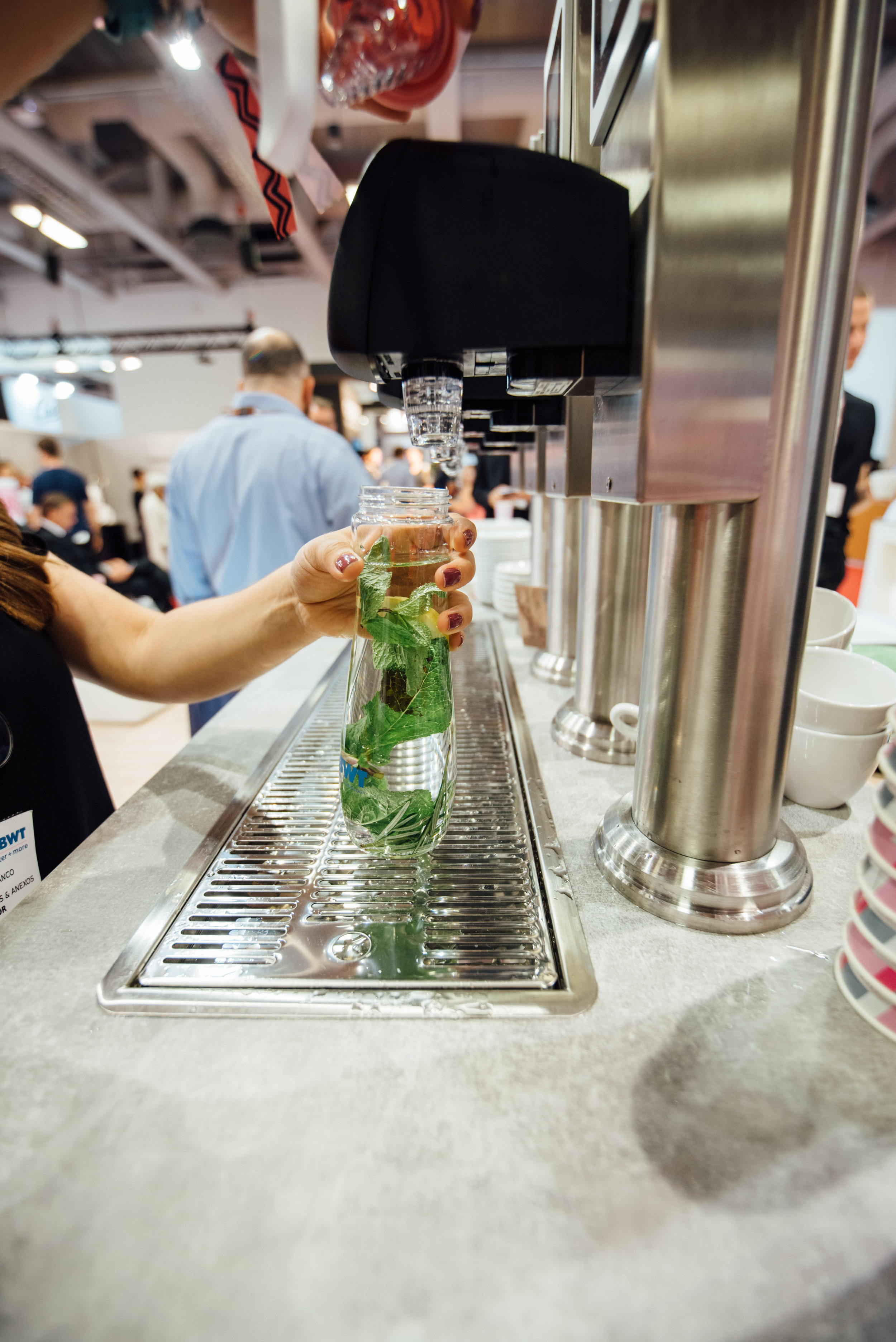 This year, BWT water+more has been keeping #WOCBerlin visitors hydrated with herb-infused water available from their stand in Hall 1. -