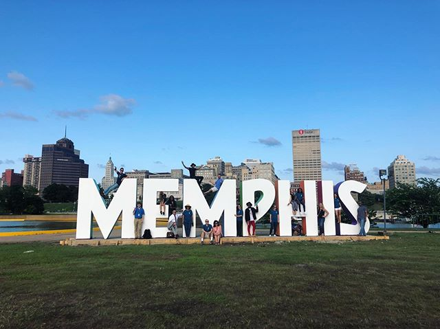 From us, to Memphis. Thank you @youngbloodstudio for bringing this to life. What an JOYful touch to our riverfront! #cometotheriver on Friday night to make some #MEMories