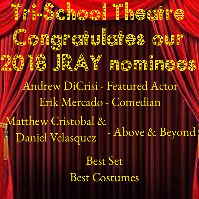 It's a honor to be nominated! And we're so proud of our students who were included with such talent from all over Southern California! #jrayawards #oklahoma #rodgersandhammerstein #trischoolturns30