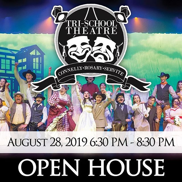 Mark your calendars! Come to Servite and meet the students of Tri-School Theatre, get a backstage tour of our theatre, play Comedy Sportz games, and MORE! @corneliaconnellyhs @rosaryroyals @servitehs @servitechoir