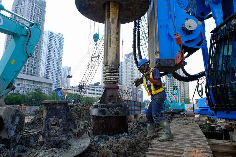 Secant Pile Drilling