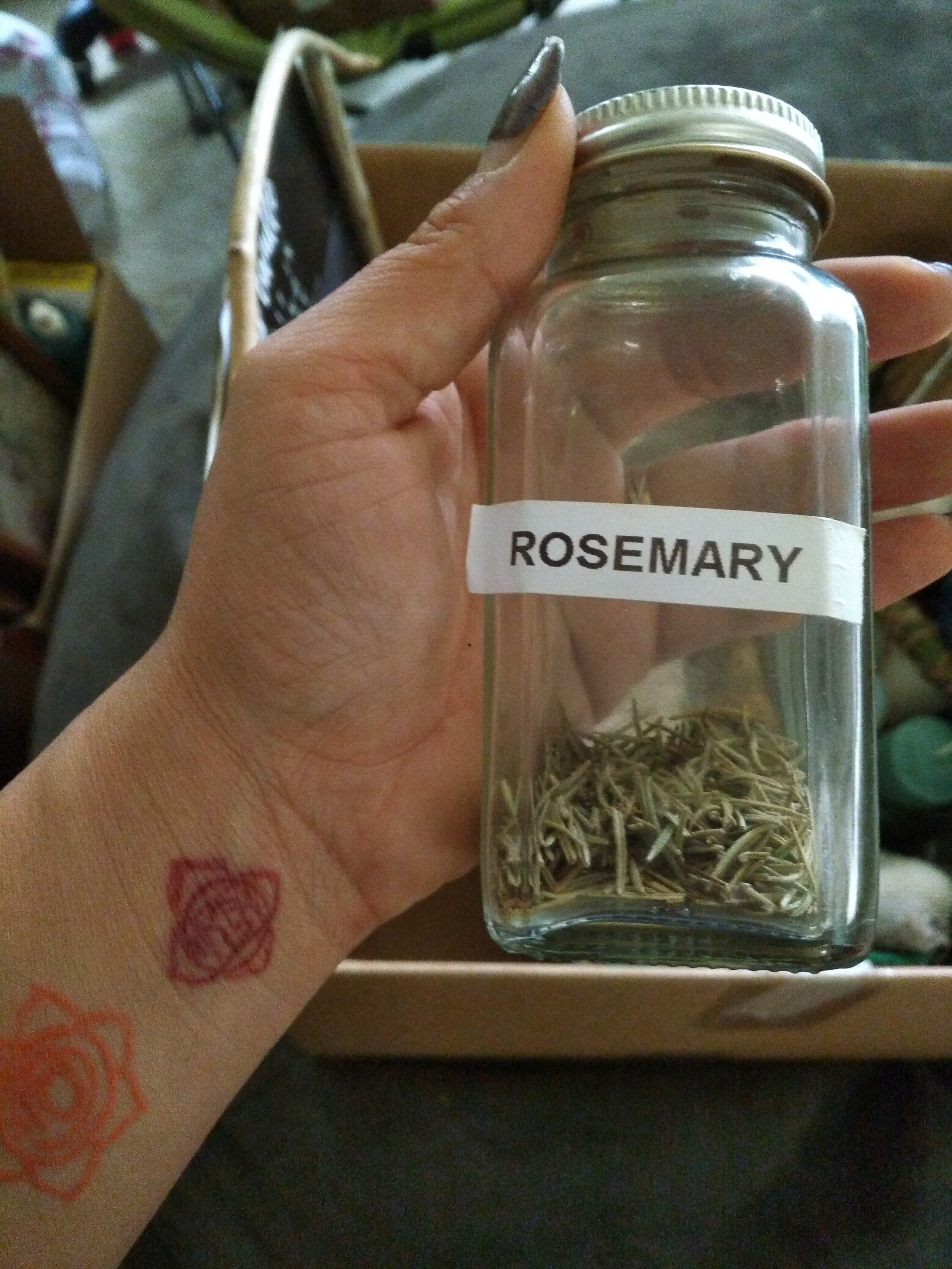 *Optional: Bring along some dried herbs to tuck into cabinets and drawers! For example, bring dried Rosemary to continually purify.