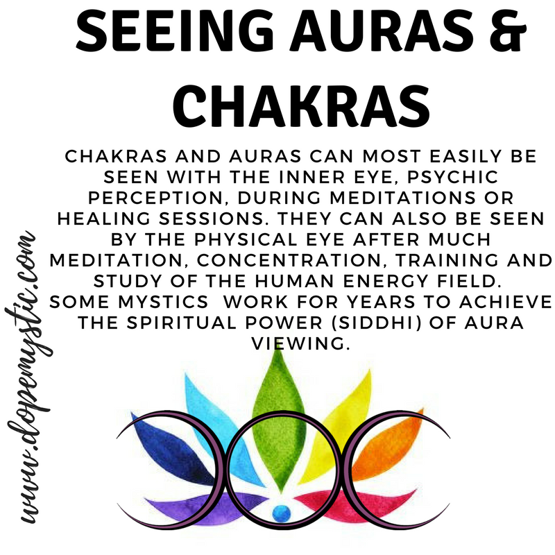 """Our chakras and aura colors are externalizations of the expressions of our thoughts, our feelings, and our moods or disposition.Chakras and auras can be viewed or measured by bio-feedback machines and even the naked eye, with a little training. People who have developed abilities, often labelled as """"psychic"""", can also see, or more correctly, perceive auras and chakras in themselves and others. In terms of psychic ability, this is called clairsenteince, the ability to feel and perceive beyond the material realm.  Once you learn how to see it, you can quickly spot weaknesses and imbalances in the etheric double … anytime and anywhere."""