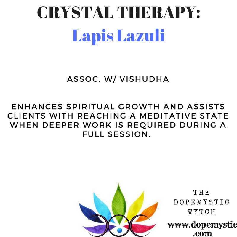 During meditation, Lapis can open the brow chakra, provide higher guidance, enhance intuition, connect you to the higher self, give you an overview of a situation, help you come to a decision for the good of all, and connect you to spirit guides and beings.