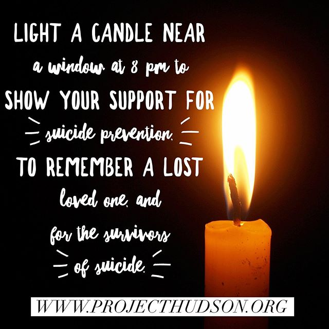 In 30 minutes please support World Suicide Prevention Day and light a candle in memory of Hudson Scott. #stopsuicide #projecthudson #flyhighhudson