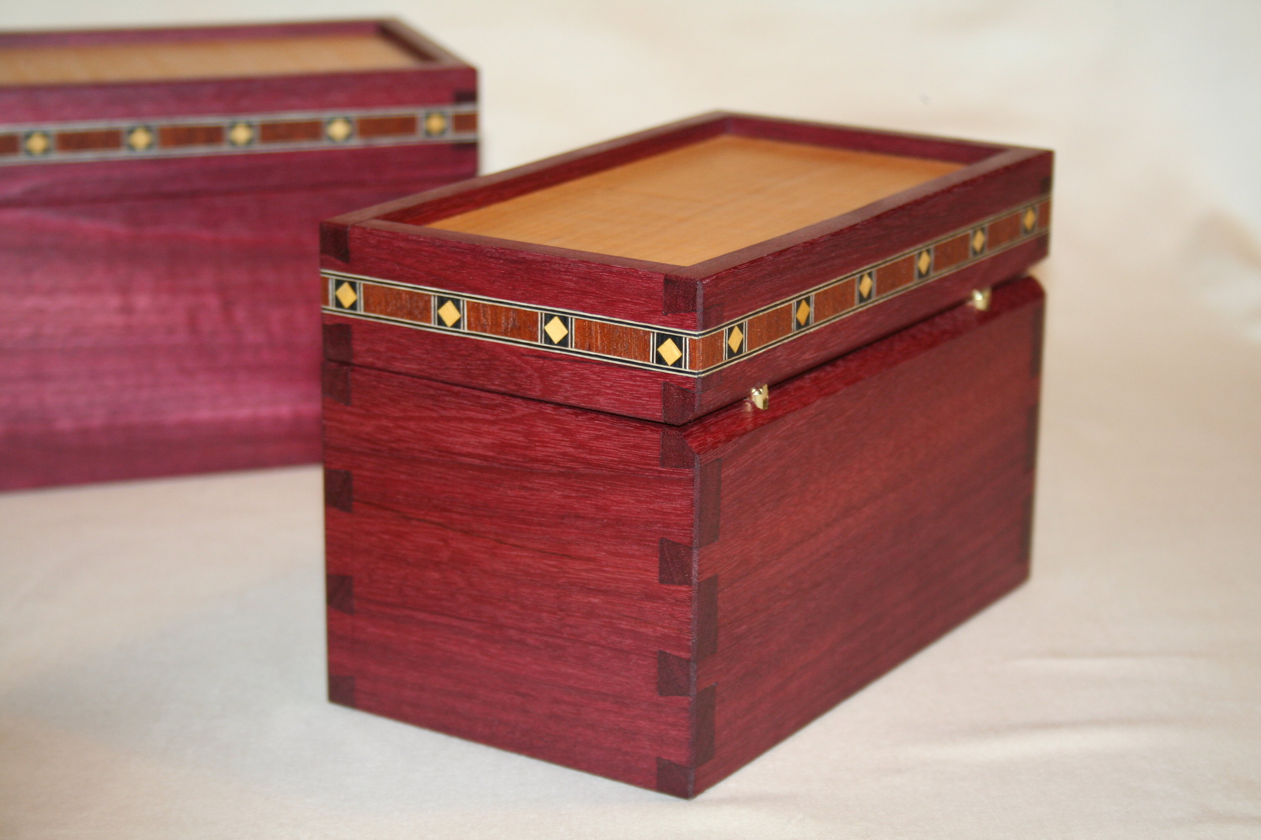 Boxes - Purple Heart and Maple