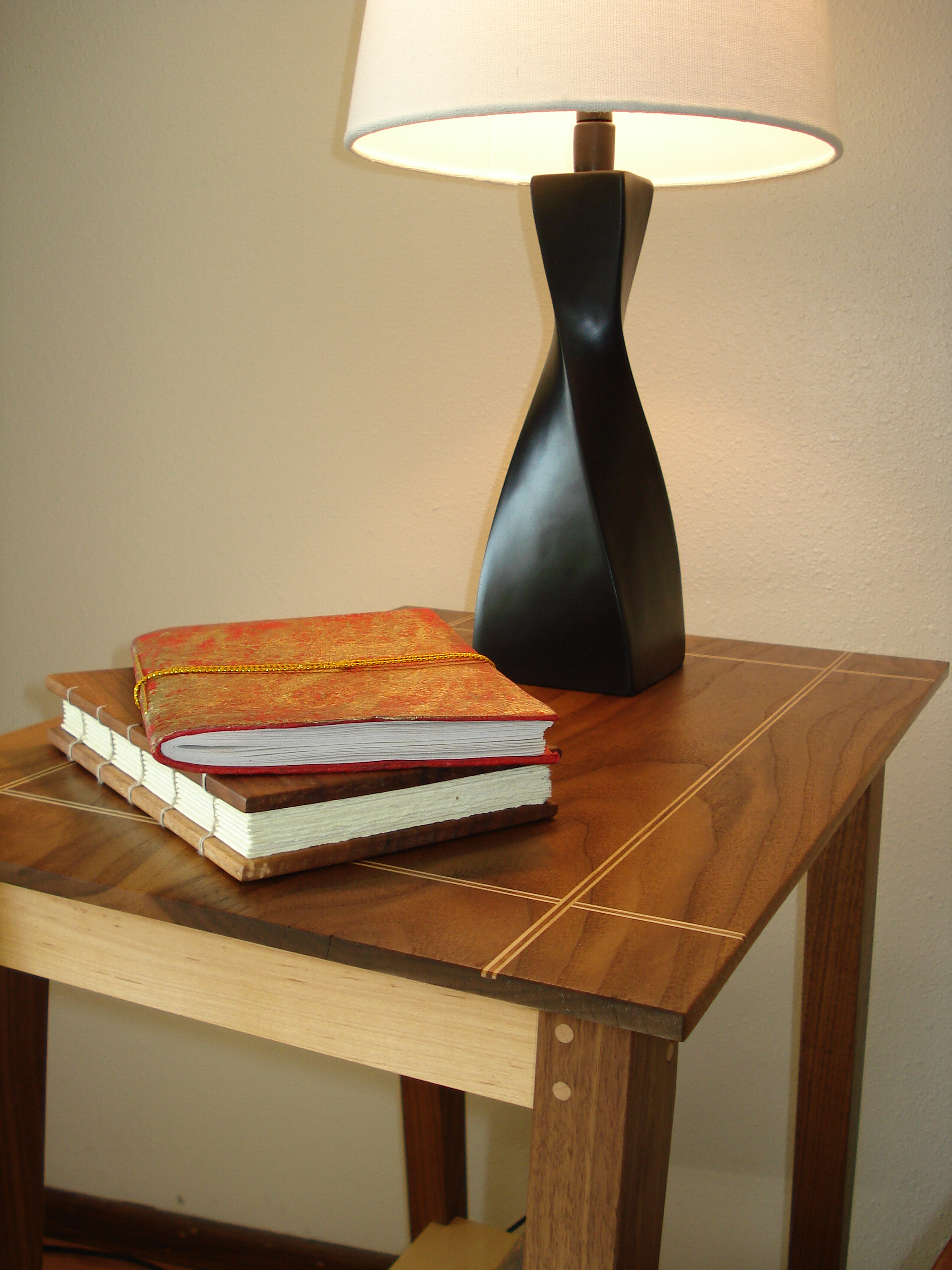 End Table - Walnut and Maple
