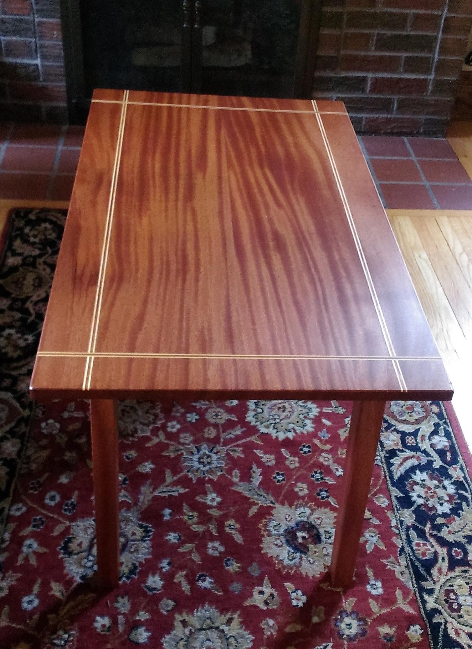 Coffee Table - Khaya with Maple Inlay