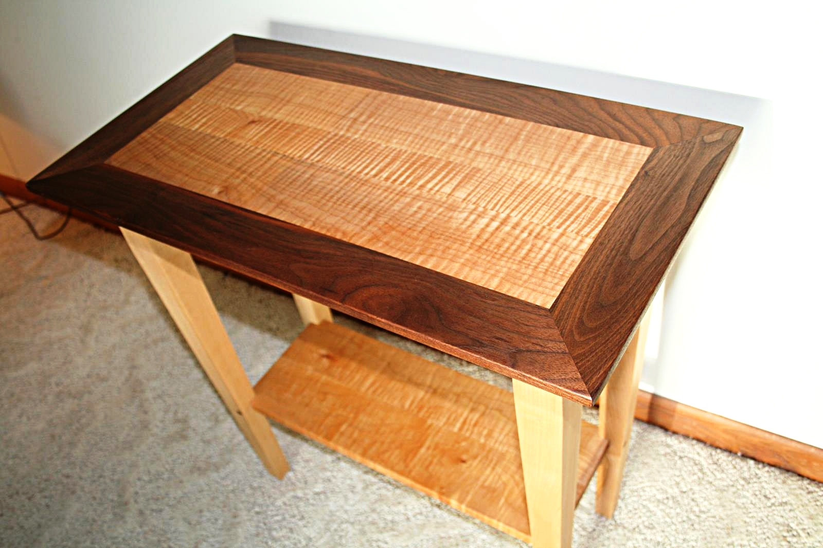 End Table - Walnut and Figured Maple