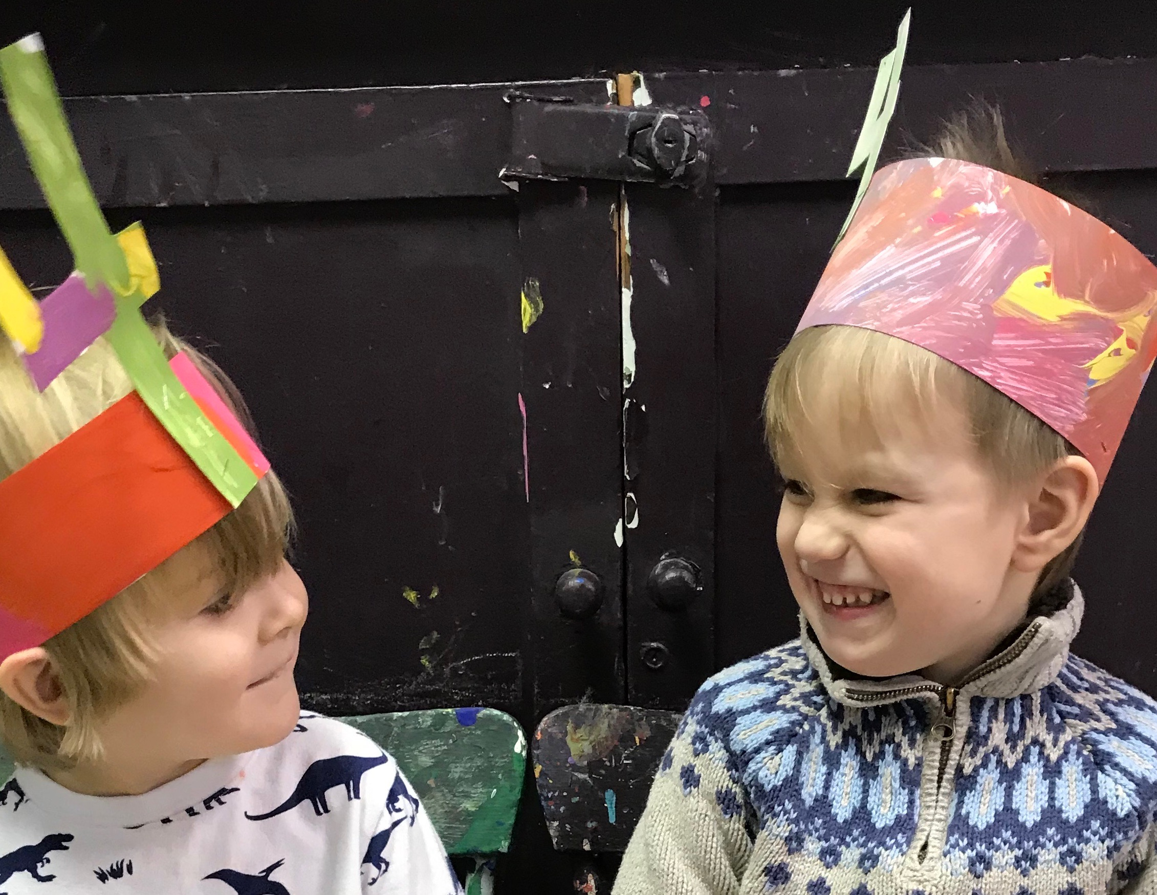 Make crowns, paint pictures, colour canvases….