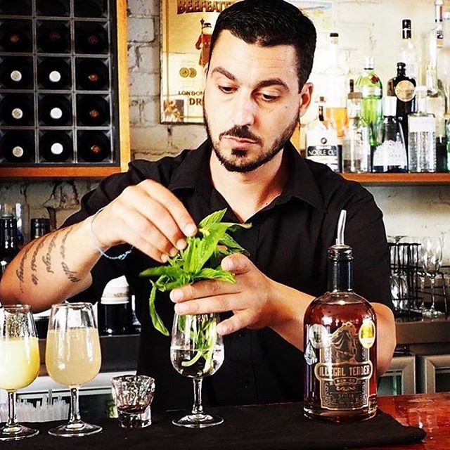 #regram of @electricagency getting their cocktail making skills on at Five. Fresh Mint is always a good idea 😀🍃🍹