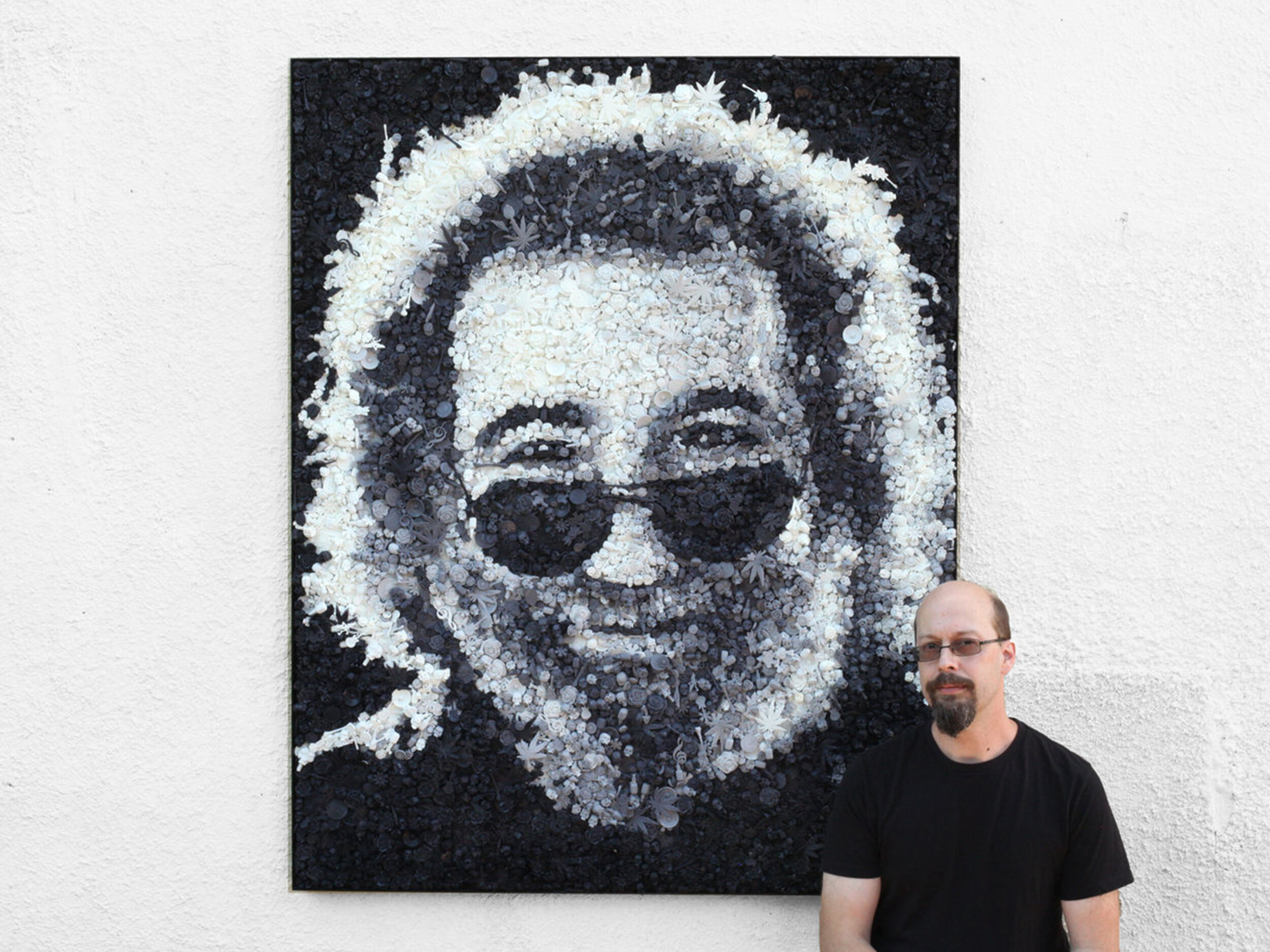 touch of grey - 25,000 hand cast pieces of imagery from the life of Jerry Garcia and the Grateful Dead