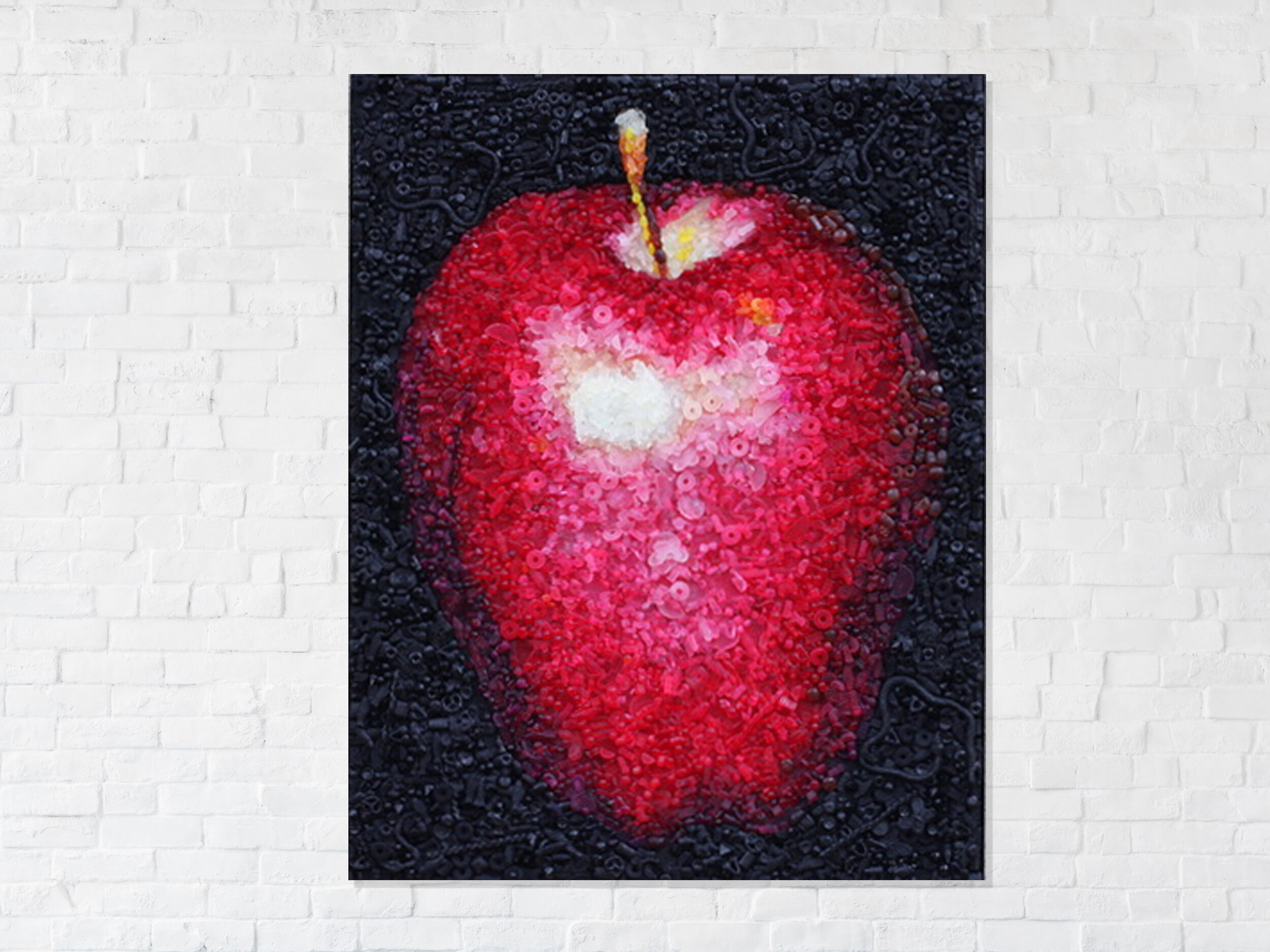 an apple a day - 10,000 hand cast pieces of candy
