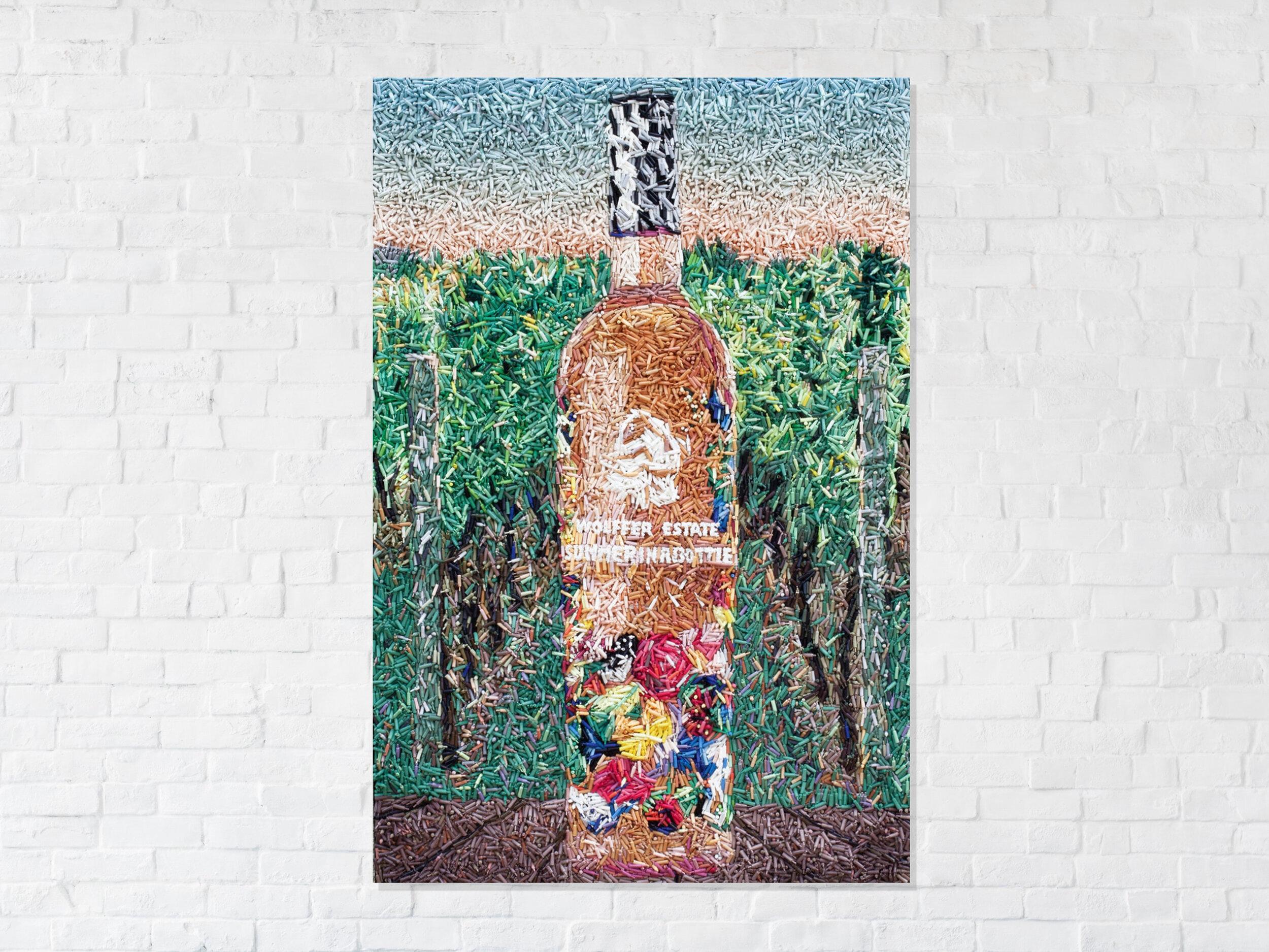 summer in a bottle - 27,000 hand cast wine bottles