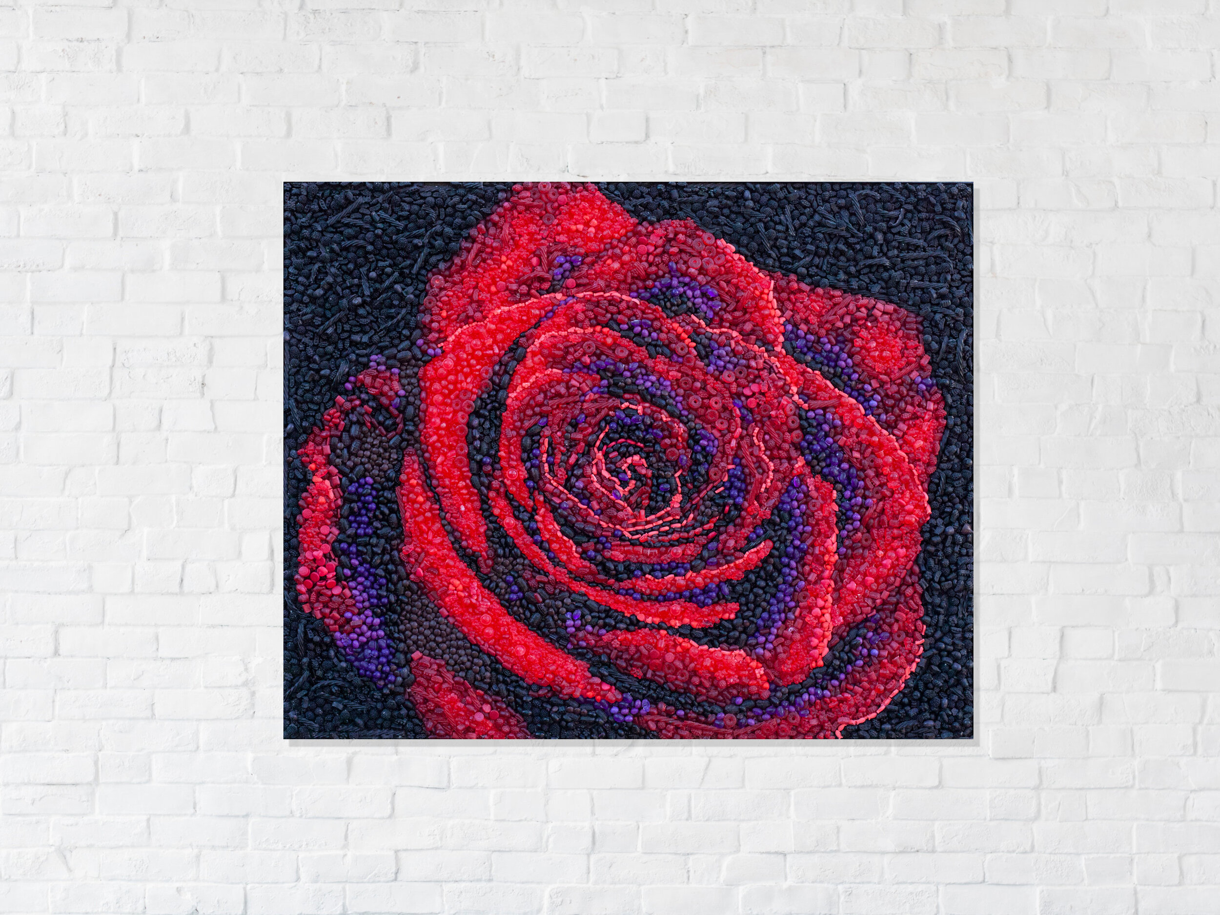 a rose by any other name - 15,000 hand cast pieces of candy