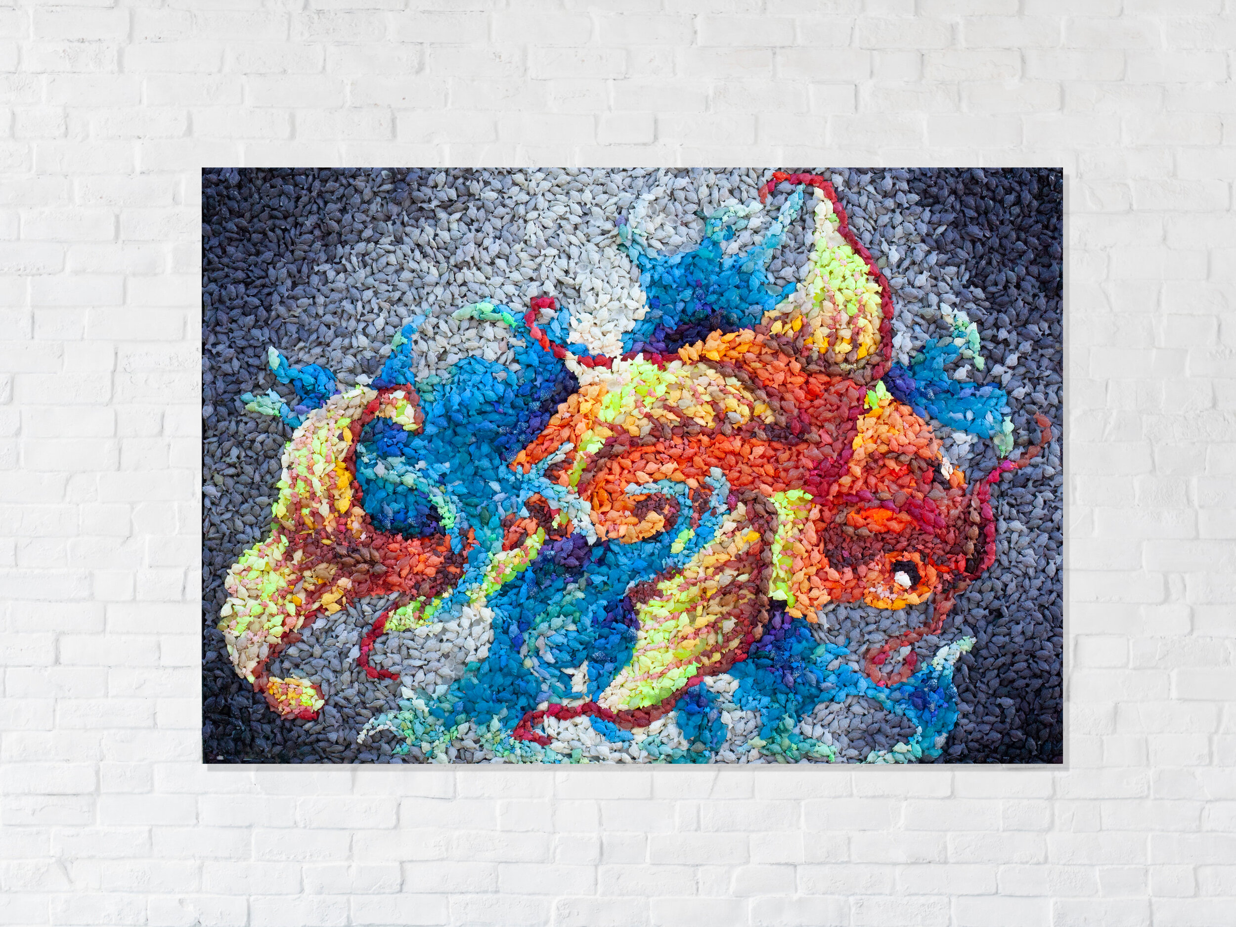 school of transcendence - 25,000 hand cast urethane fish