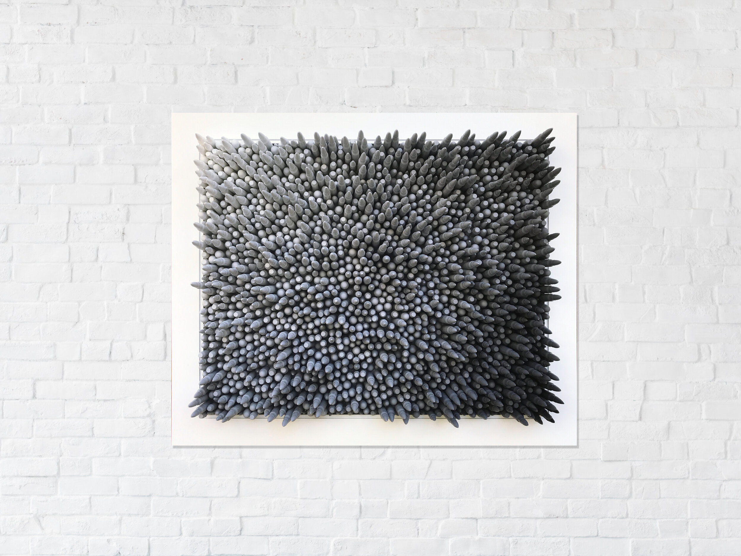 loaded fade in grey - 1,850 hand cast bullets