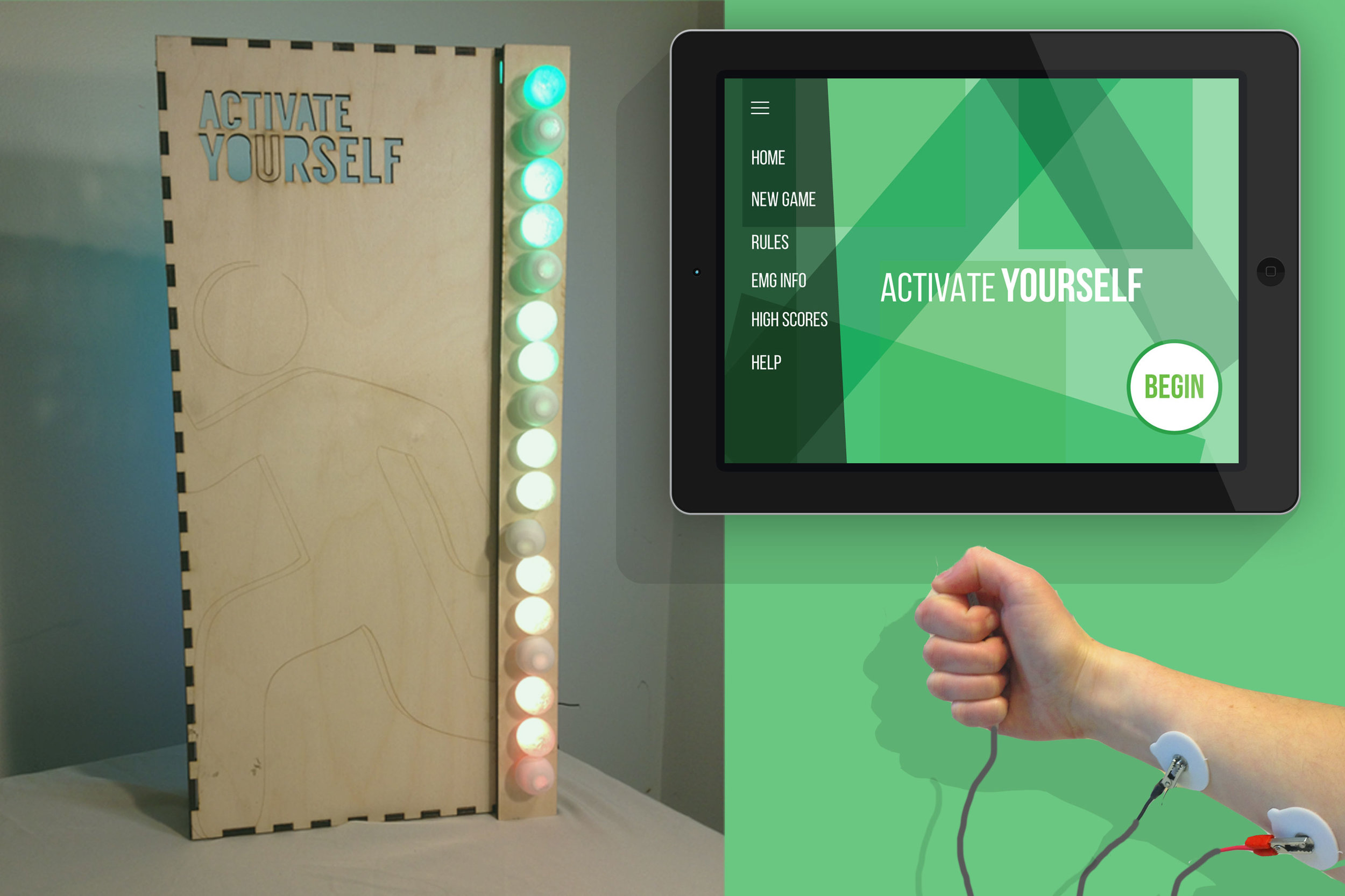 Activate Yourself - Muscle Activity Visualization Game