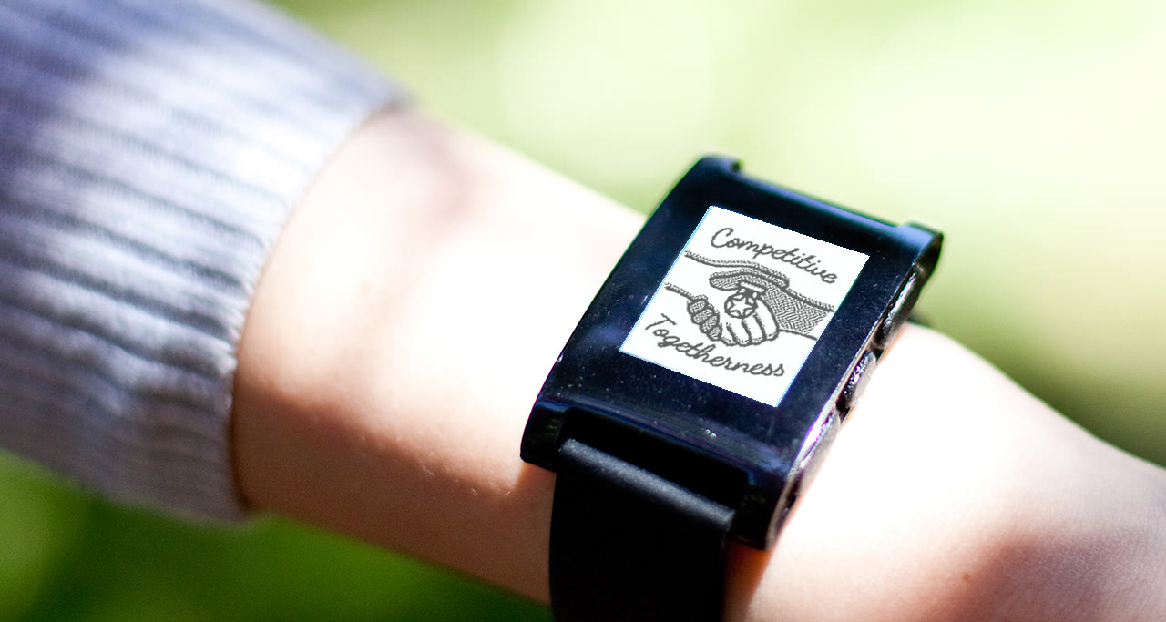 CompetitiveTogetherness - Pebble Watch App encouraging positive healthrelated behaviors through smartwatch interactions
