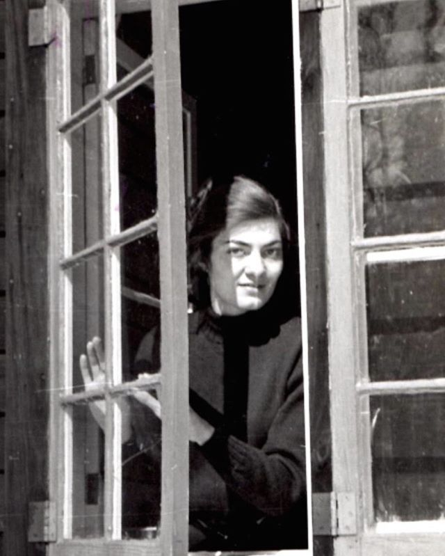 Rosemarie Beck at the window. Photograph by Robert Phelps. Woodstock, NY, winter 1948. #rosemariebeck #woodstock #photography #robertphelps