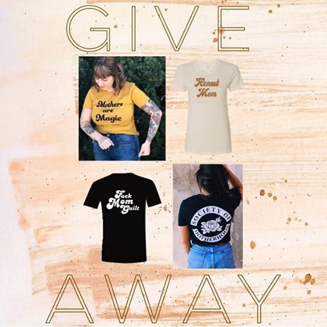 ✨✨GIVEAWAY✨✨ One follower will win a Mothers Are Magic tee from @bee_and_mae, Honest Mom tee from @thehonestmotherhood, Fuck Mom Guilt tee from @drawingsbynicole, and a $25 gift card from @fineanddandypins. • How to enter: •like this image •follow all 4 accounts •tag one friend per comment below ✨BONUS✨ Share this image on your story and tag us. • Giveaway ends in 48 hours. Winner will be announced on this post. Open worldwide-overseas may have to pay shipping. This post is in no way sponsored or endorsed by Instagram.