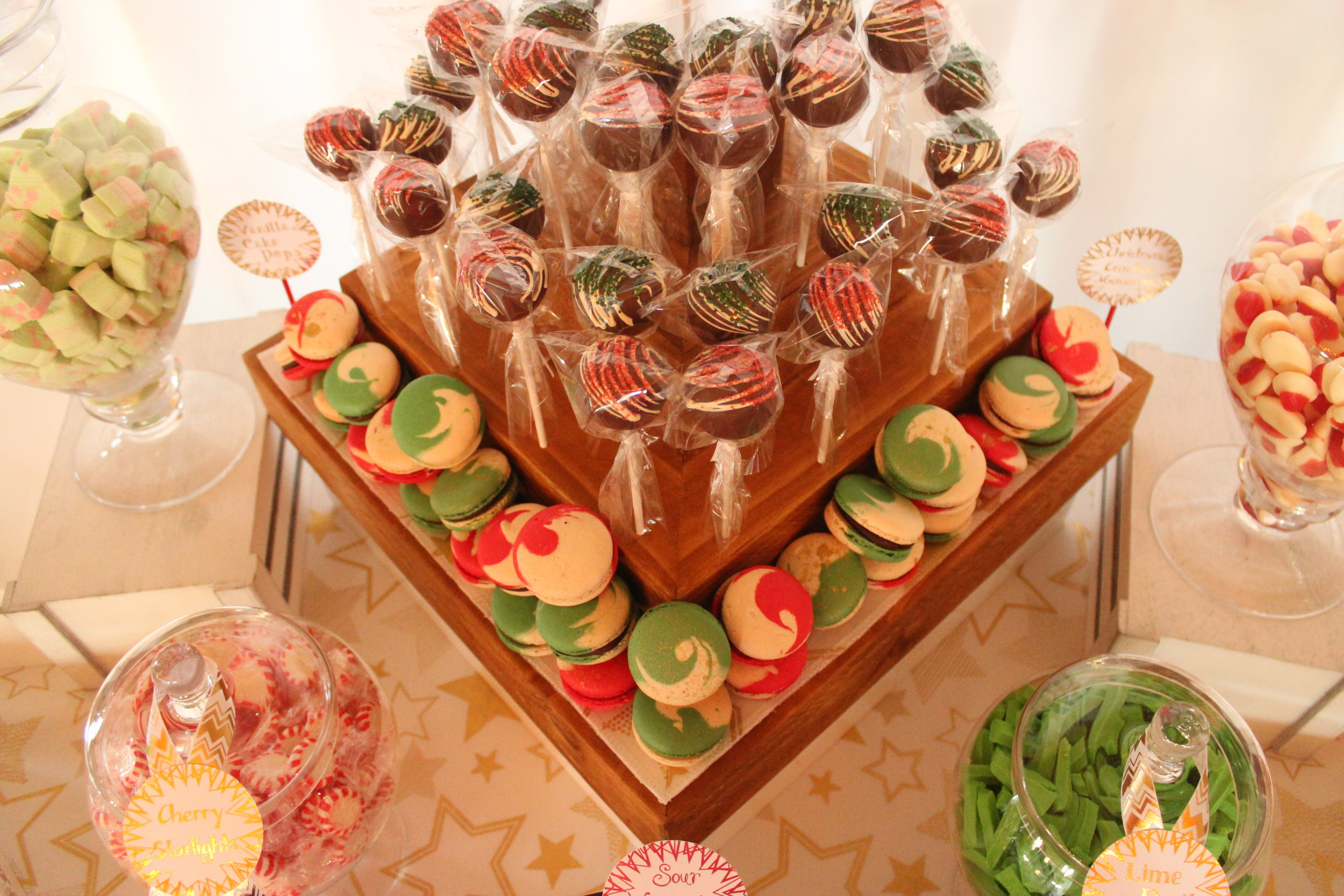 Christmas Candy Bar - Red, Green, White, Gold 10/11 - Cake Pop House Chocolate Pops
