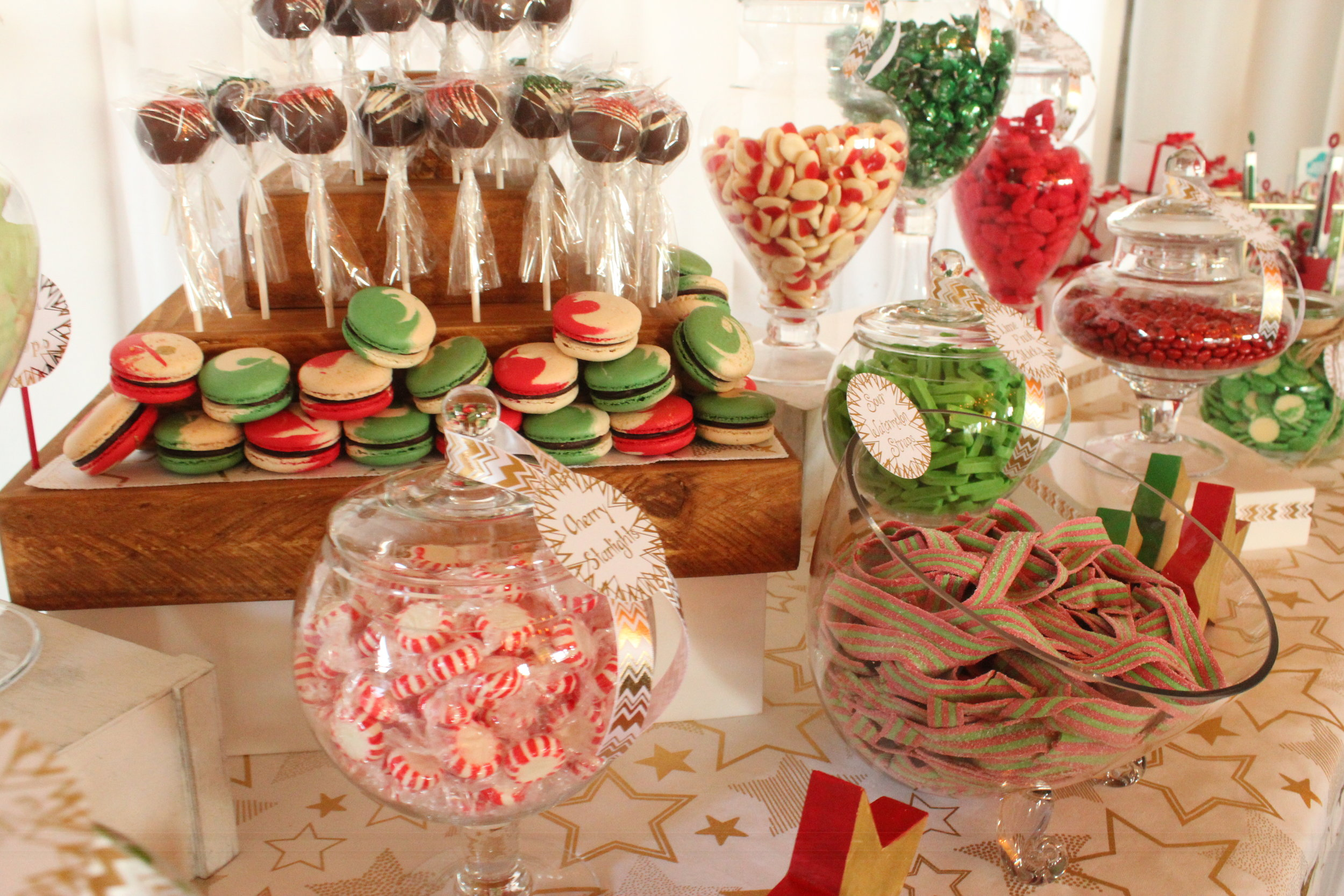 Christmas Candy Bar - Red, Green, White, Gold 8/11 - Cherry Starlights