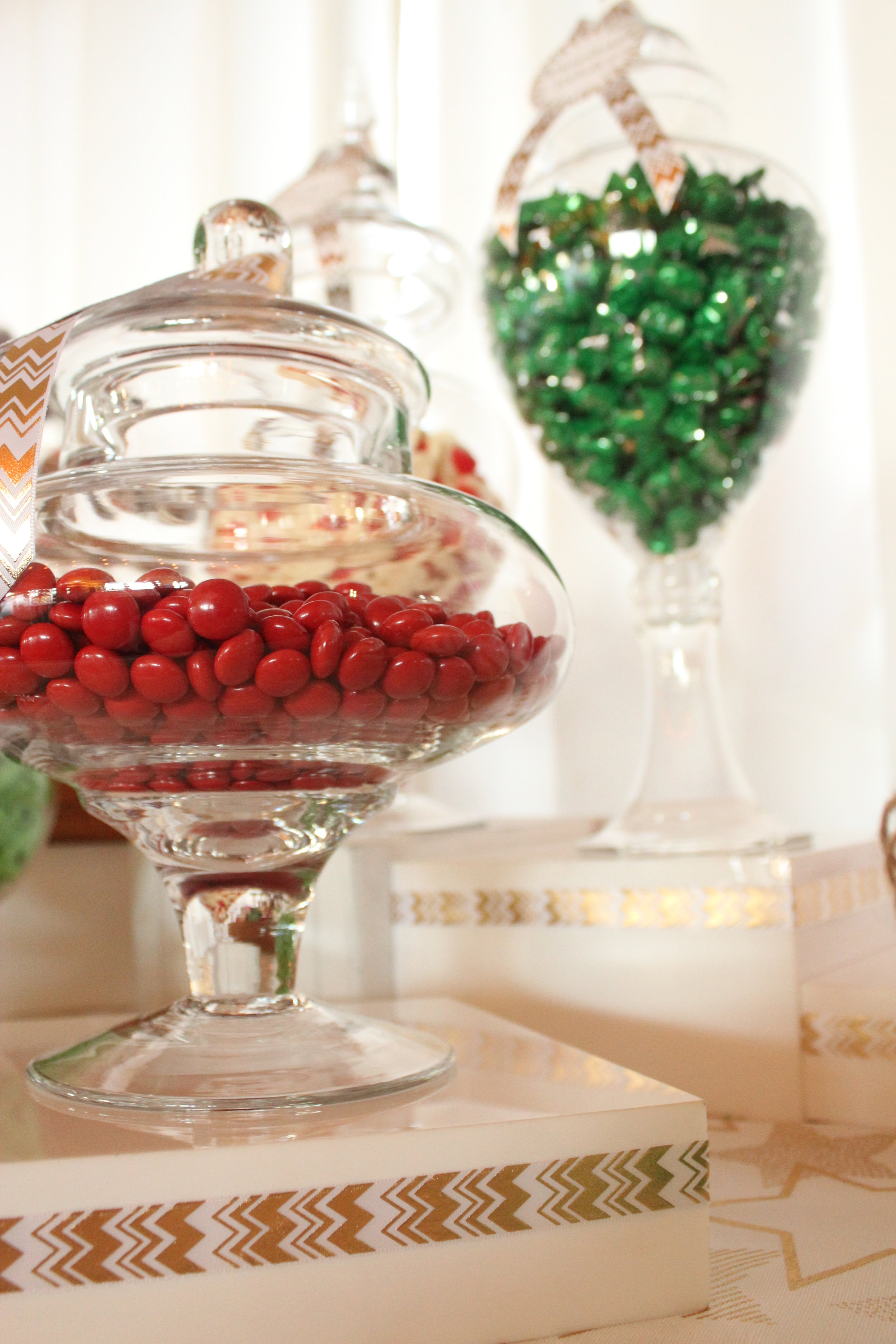 Christmas Candy Bar - Red, Green, White, Gold 6/11 - Choc Buttons