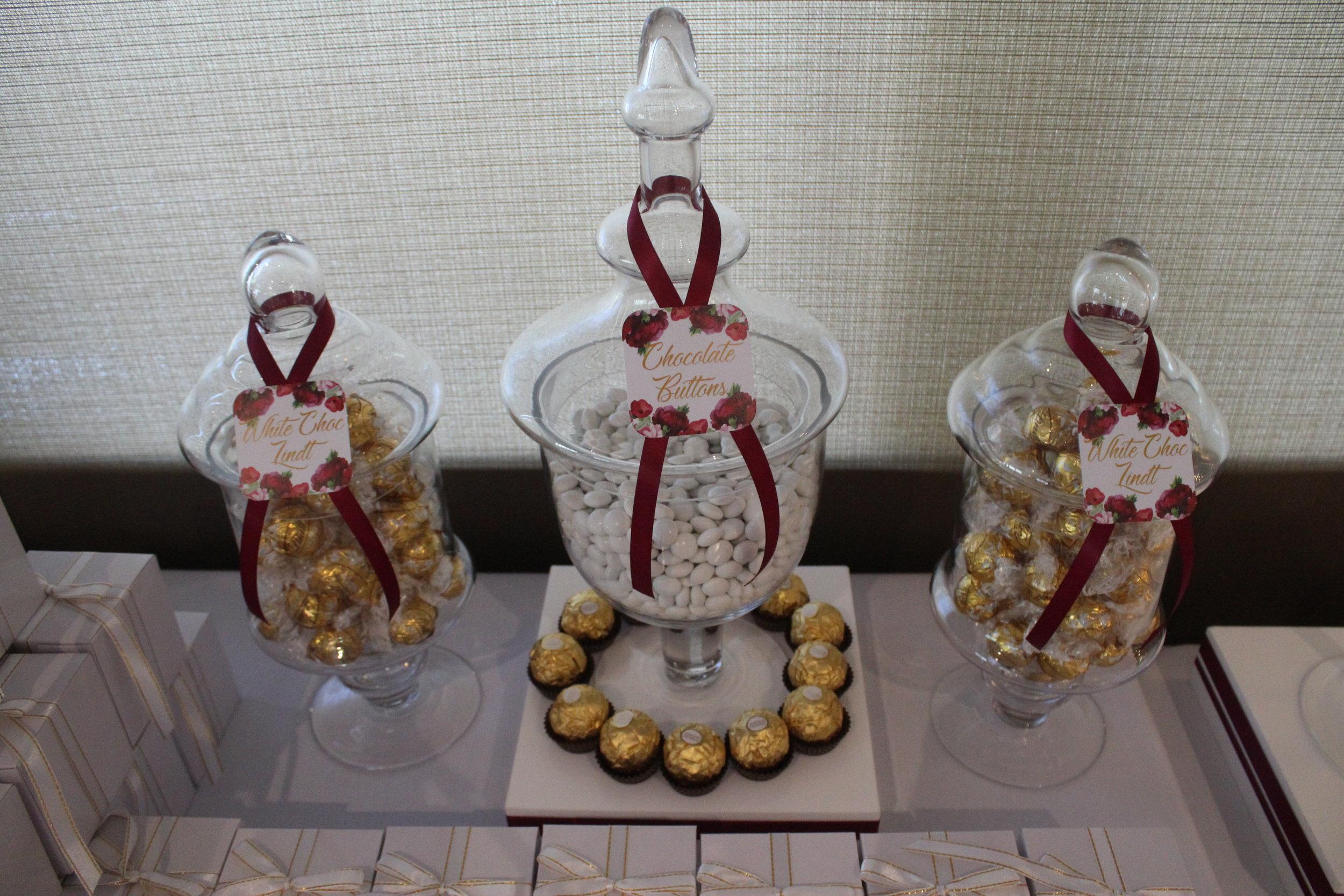 White Chocolate Lindt Lindor & Ferrero Rochers